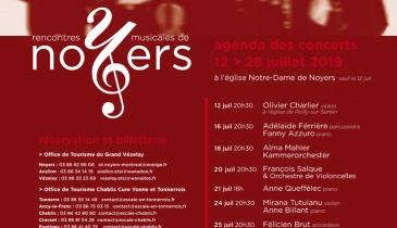 Affiche des Rencontres Musicales de Noyers