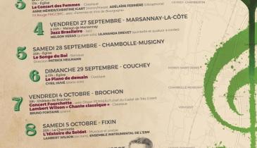 Affiche Musique au Chambertin 2019